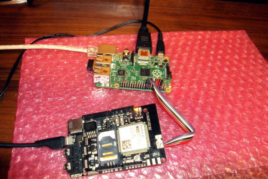 RaspberryPI and a-gsm shield Send SMS LAN GATEWAY - running