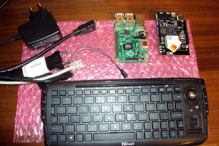 RaspberryPI and a-gsm shield Send SMS LAN GATEWAY - what you need