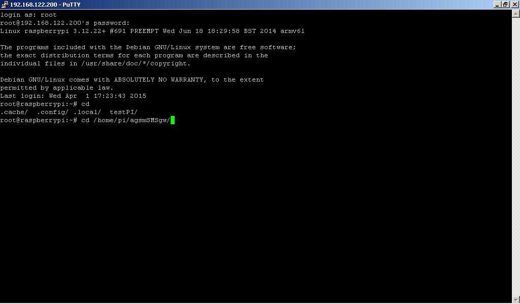 RaspberryPI shell Python chdir