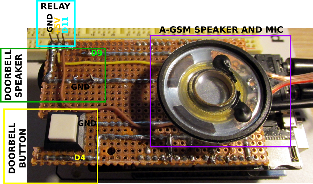 a-gsm shield projects Smart doorbell with Arduino and A-GSM