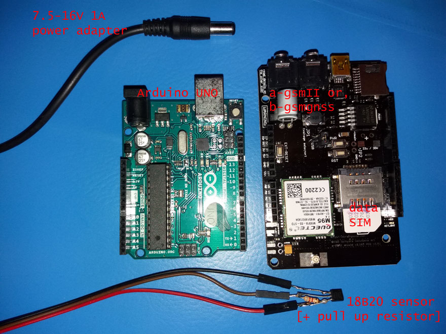 IoT temperature CLOUD logger GSM :: BILL OF MATERIALS
