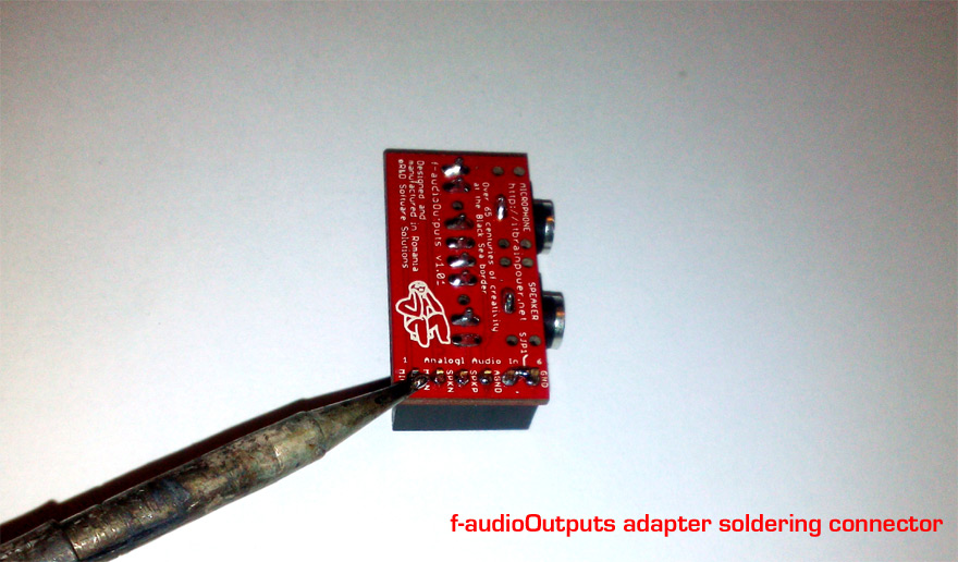 f-AudioOutputs Audio adapter for c-uGSM shield - Solder the 6 pin 2.54mm (0.1