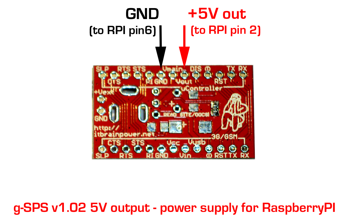 RPI SWITCHING POWER SUPPLY CONNECTING PADS DETAILS