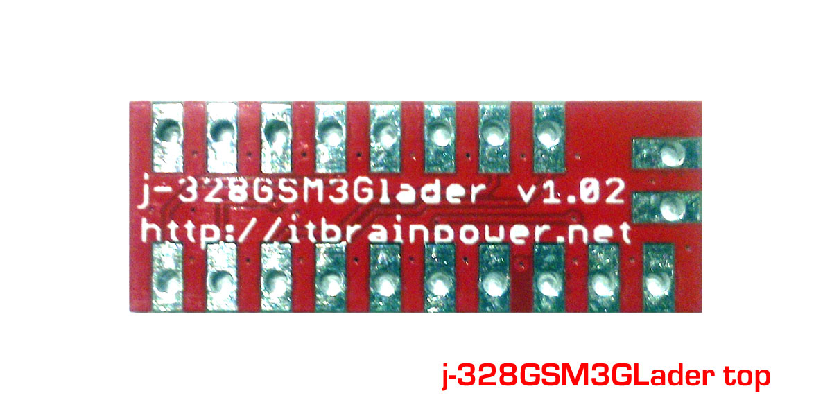j-328GSM3GLader Arduino Pro Mini modem adapter board top brief introduction