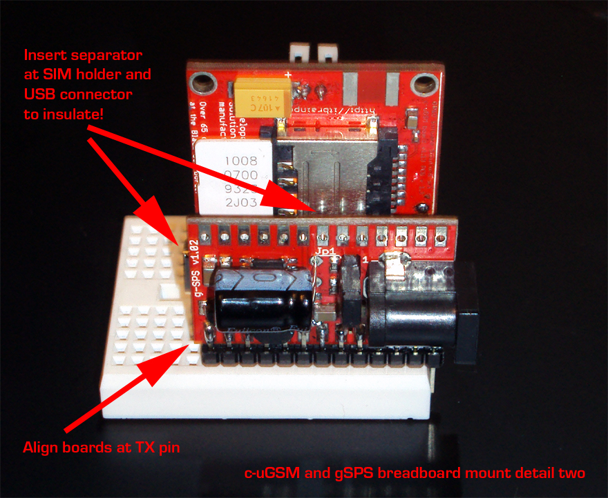 GSM 3G SHIELD BREADBOARD - detail three