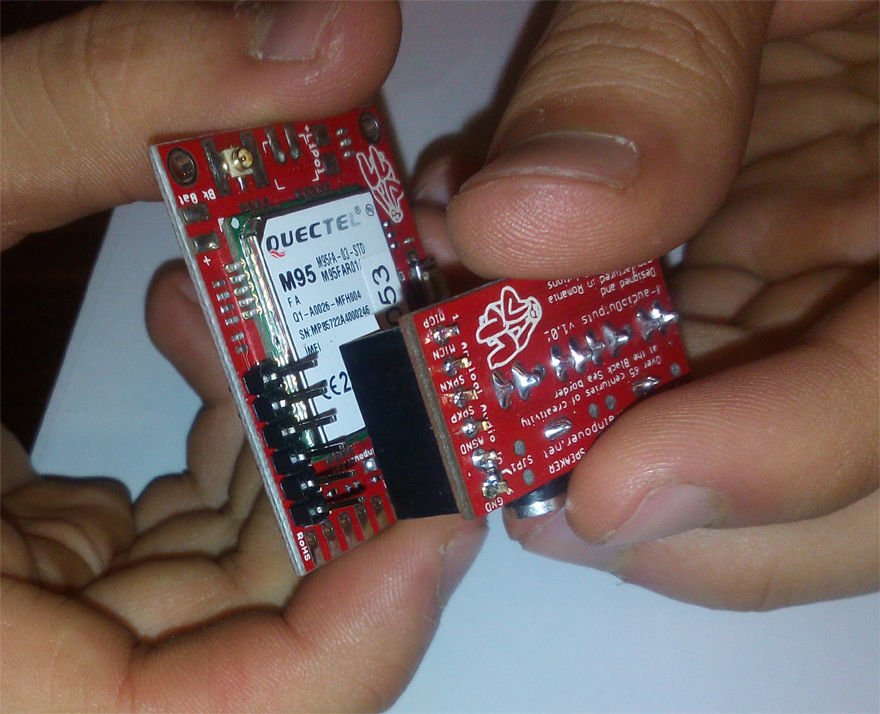 AUDIO BOARD EXTENDER for GSM SHIELD