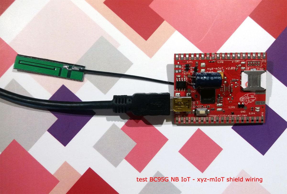 Nbiot Data Transmission How To Using Bc95g Modem Based Shields Wiring X Y Z Test Nb Iot Xyz Miot