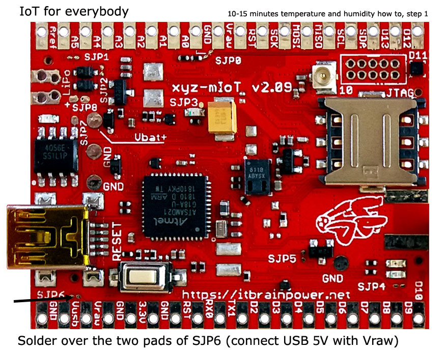 LTE CATM1 or GSM temperature and humidity IOT CLOUD